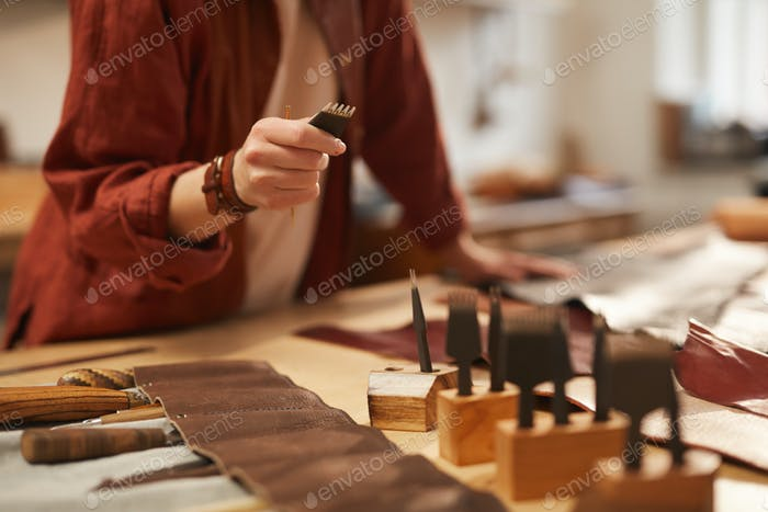 Unrecognizable Artisan Choosing Right Tool
