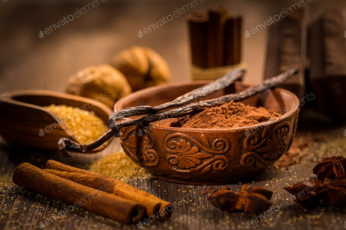 Baking ingredients and spices