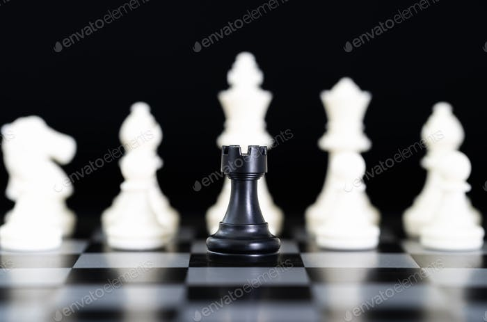 Chess pieces on chessboard-2