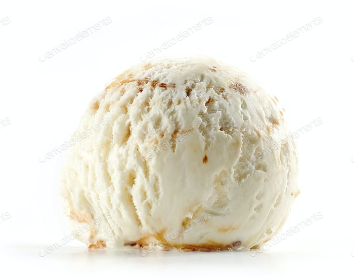 ice cream on white background