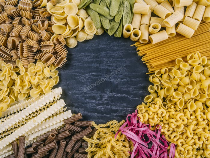 Pasta assortment frame