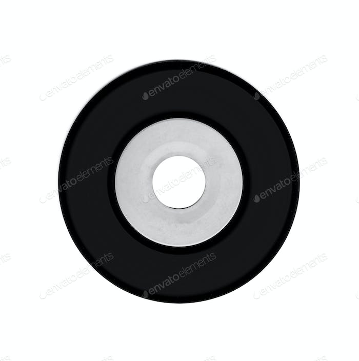 Vynil circle isolated on white