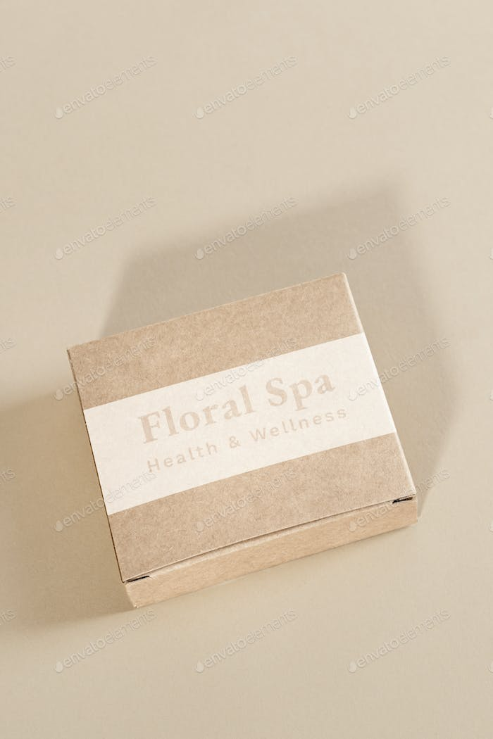 Floral spa health and wellness gift box