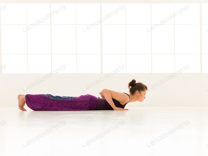 yoga posture demonstration