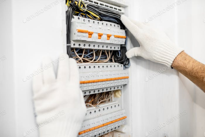 Installing or repairing electrical panel
