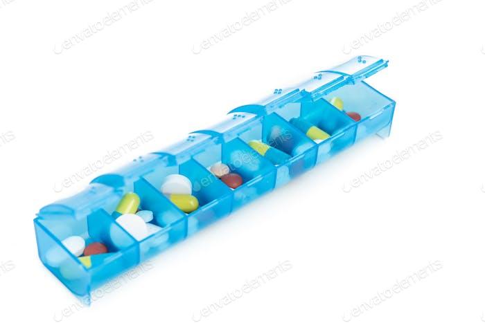 Pillen-Organizer Box zur Aufbewahrung von Dosen der täglichen Medizin