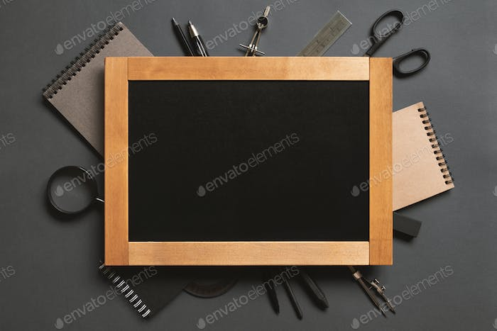 Education, Black Background