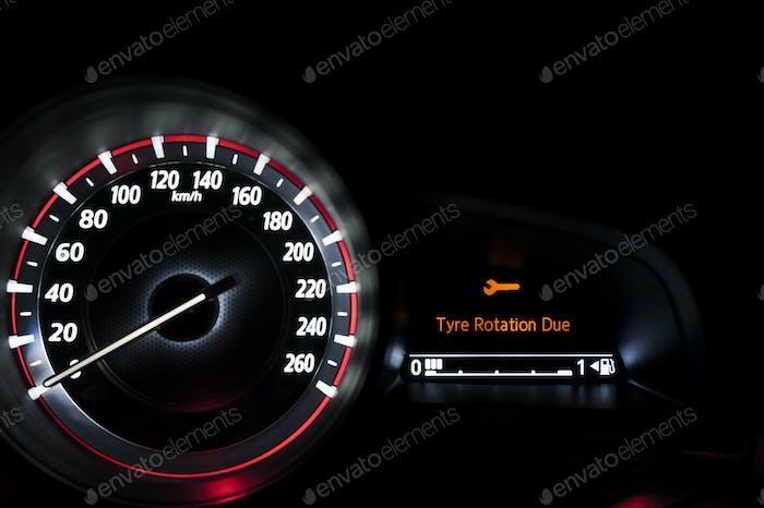 Car Tyre Rotation Due Warning