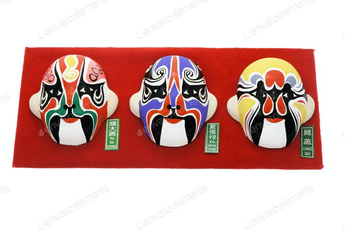 Chinese Beijing opera mask ornaments