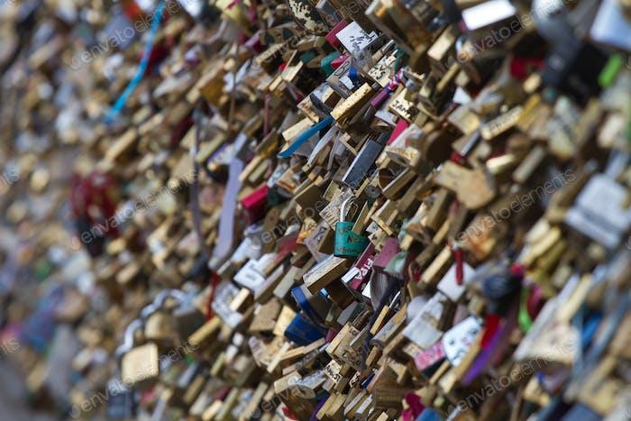 Love locks in Paris