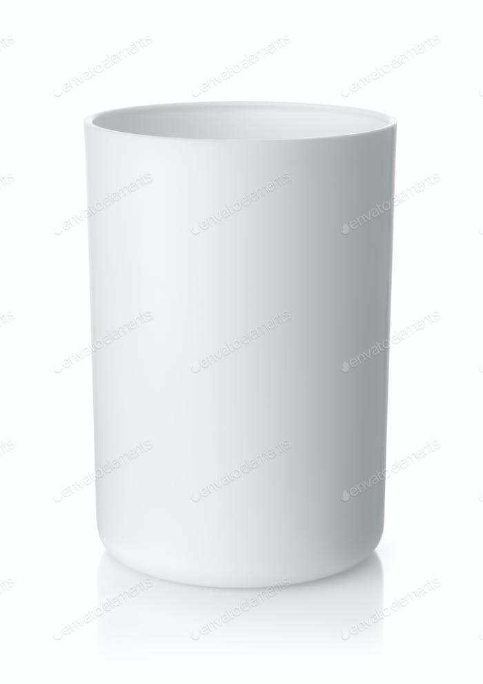 Blank white plastic cup