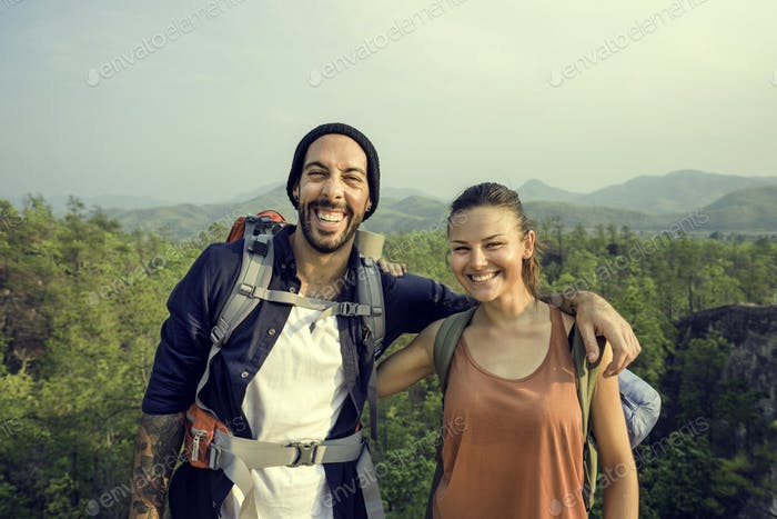 Couple Travel Adventure Happiness Concept
