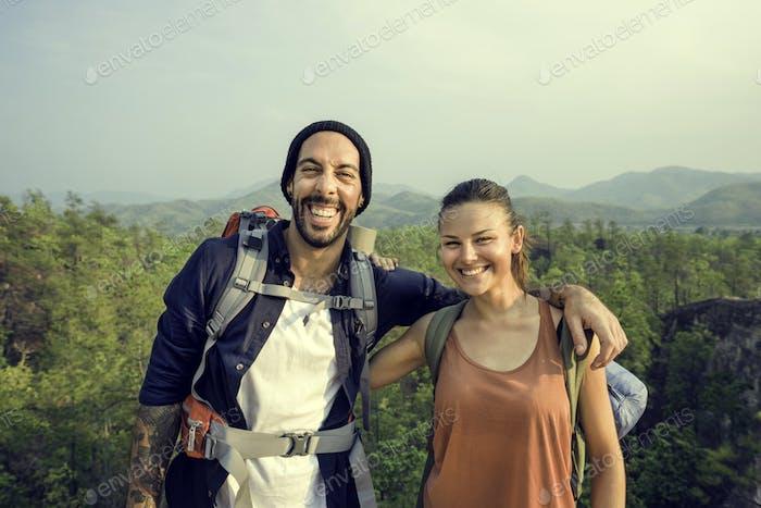 Couple Travel Adventure Happiness Concept