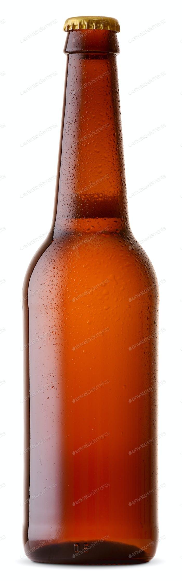 Bierflasche mit Wassertropfen