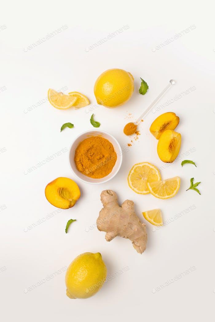 Ingredients of ginger tea