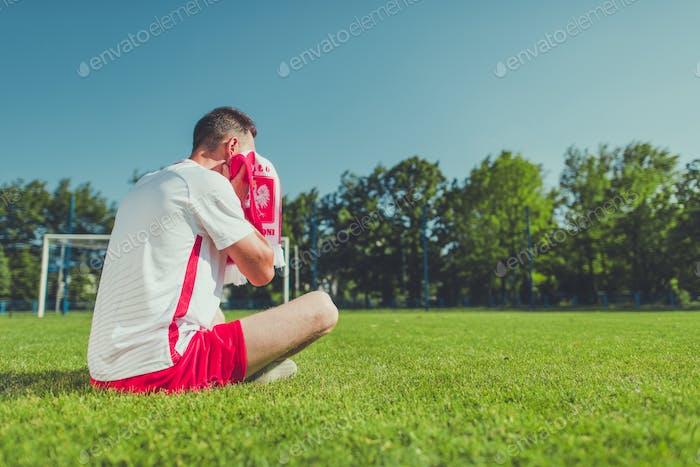 Crying Football Fan