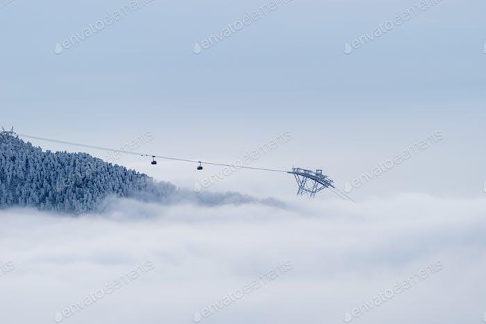 wunderbare Bergbahn Szene