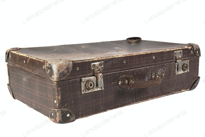 Brown Rusty Suitcase