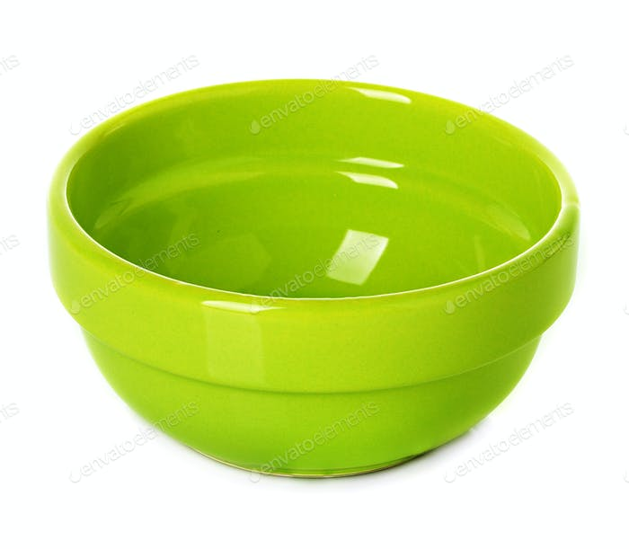 Plate, dish green isolated