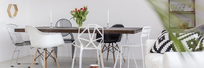 Black and white modern house