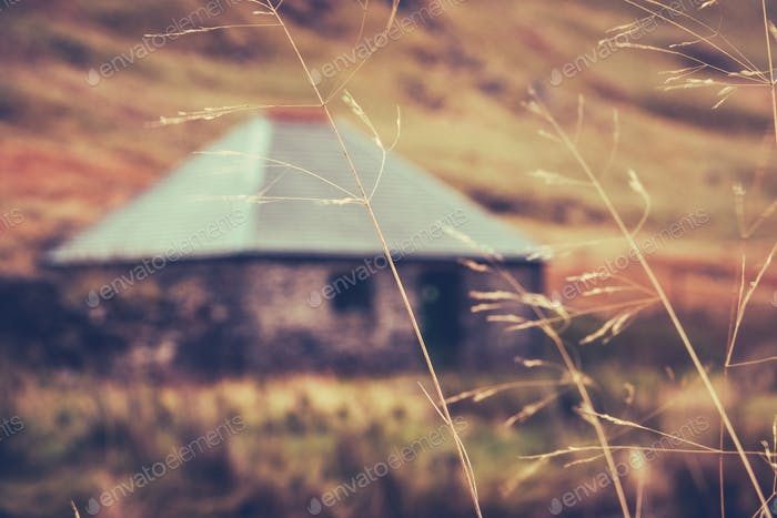 Schottische Wanderhütte oder Bothy
