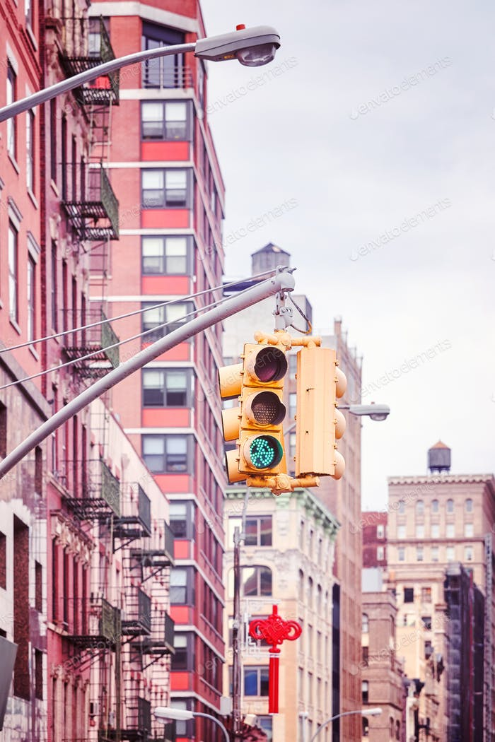 New York City traffic lights.