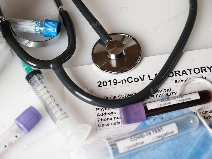 Coronavirus COVID-2019 test concept
