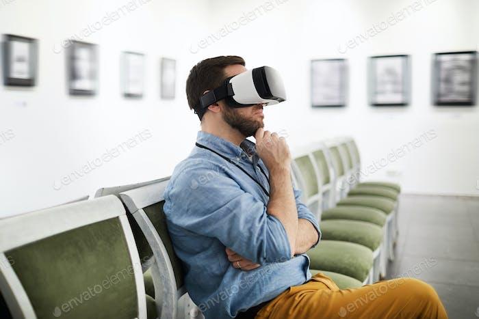Man Wearing VR in Museum