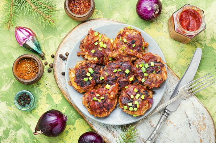 Dietary vegetable cutlets.