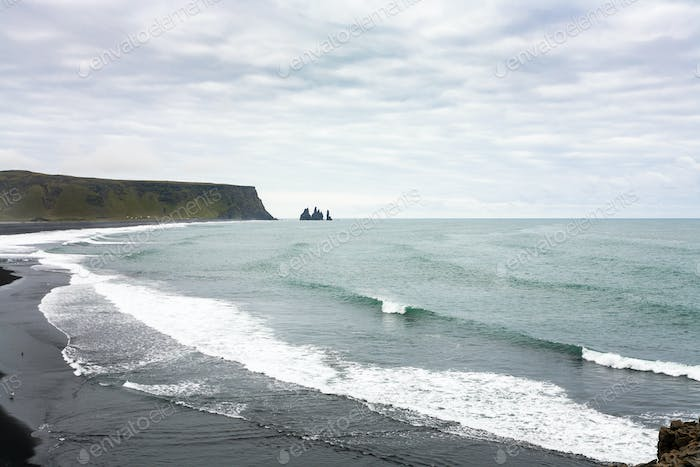 Kirkjufjara and Reynisfjara black beaches
