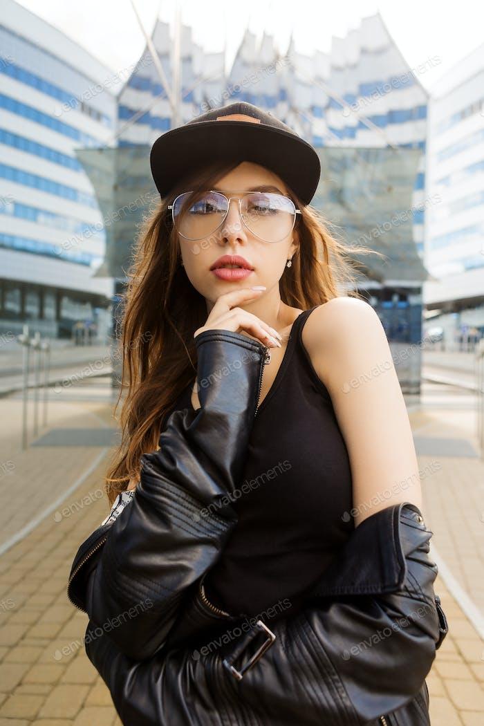 Hipster urbaner Stil Mädchen Leben.