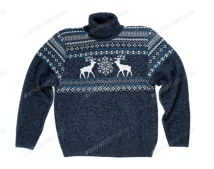 knitted sweater with a pattern