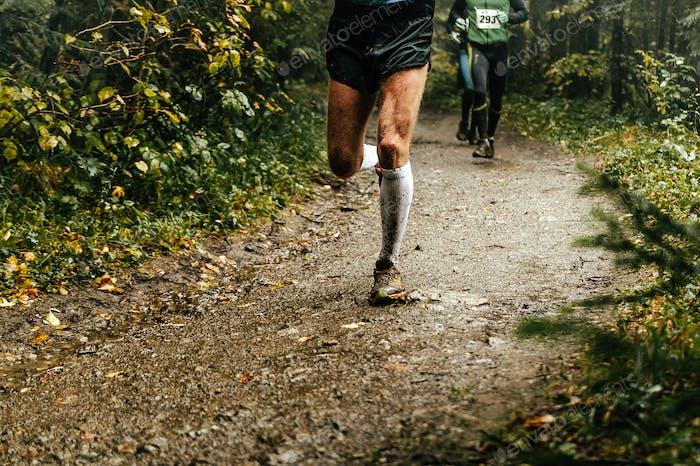 Male Runner läuft Marathon