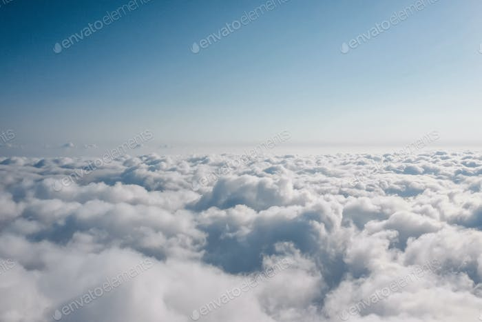 Aerial view of sky above clouds