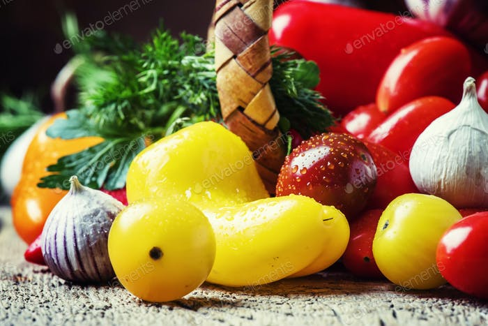 Zutaten für Gemüsesalat