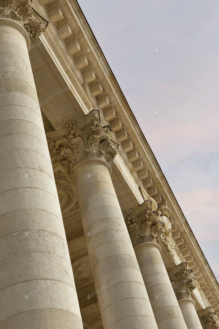 Facade of Bordeaux Opera