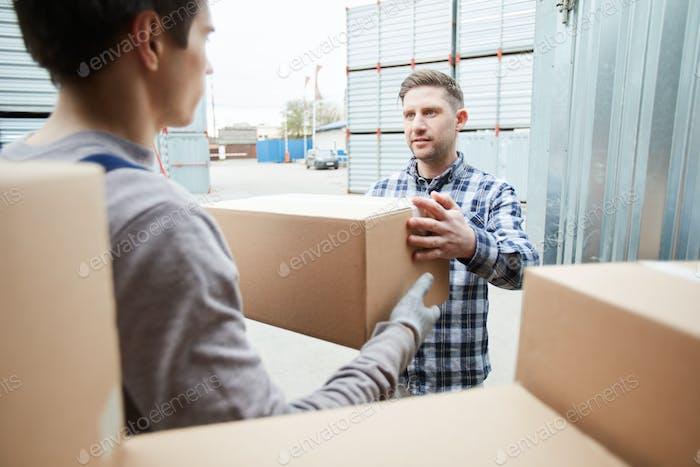 Caja de entrega al cliente