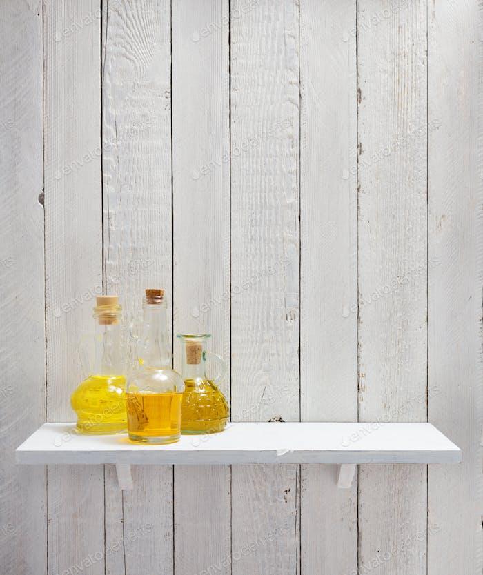 bottle of oil at shelf