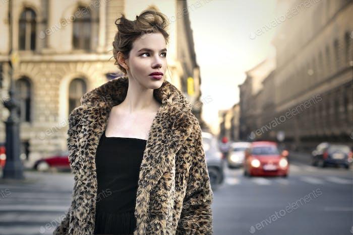 Elegant woman outdoor