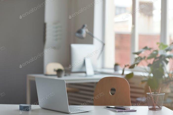 Online work on laptop