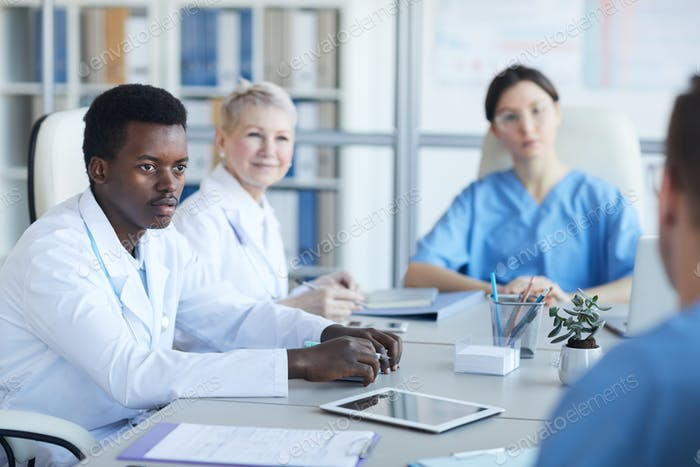 African-American Doctor in Meeting