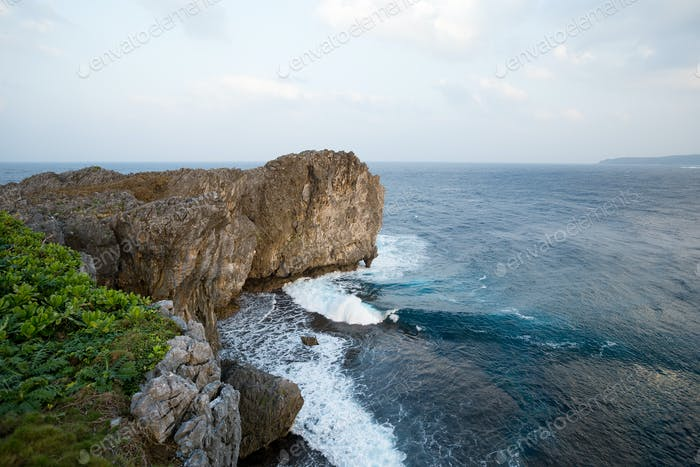 Rocky cliff landscape