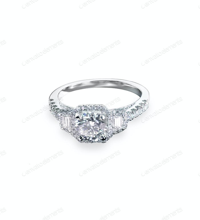 Beautiful Diamond Wedding band engagement ring