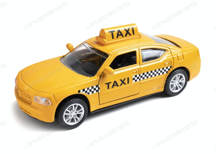 Gelber Taxifahrer