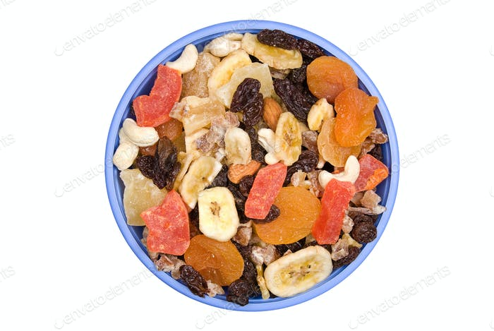 Bowl of trail mix