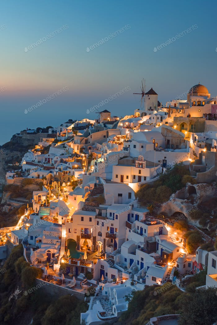 Beautiful Oia at sunset