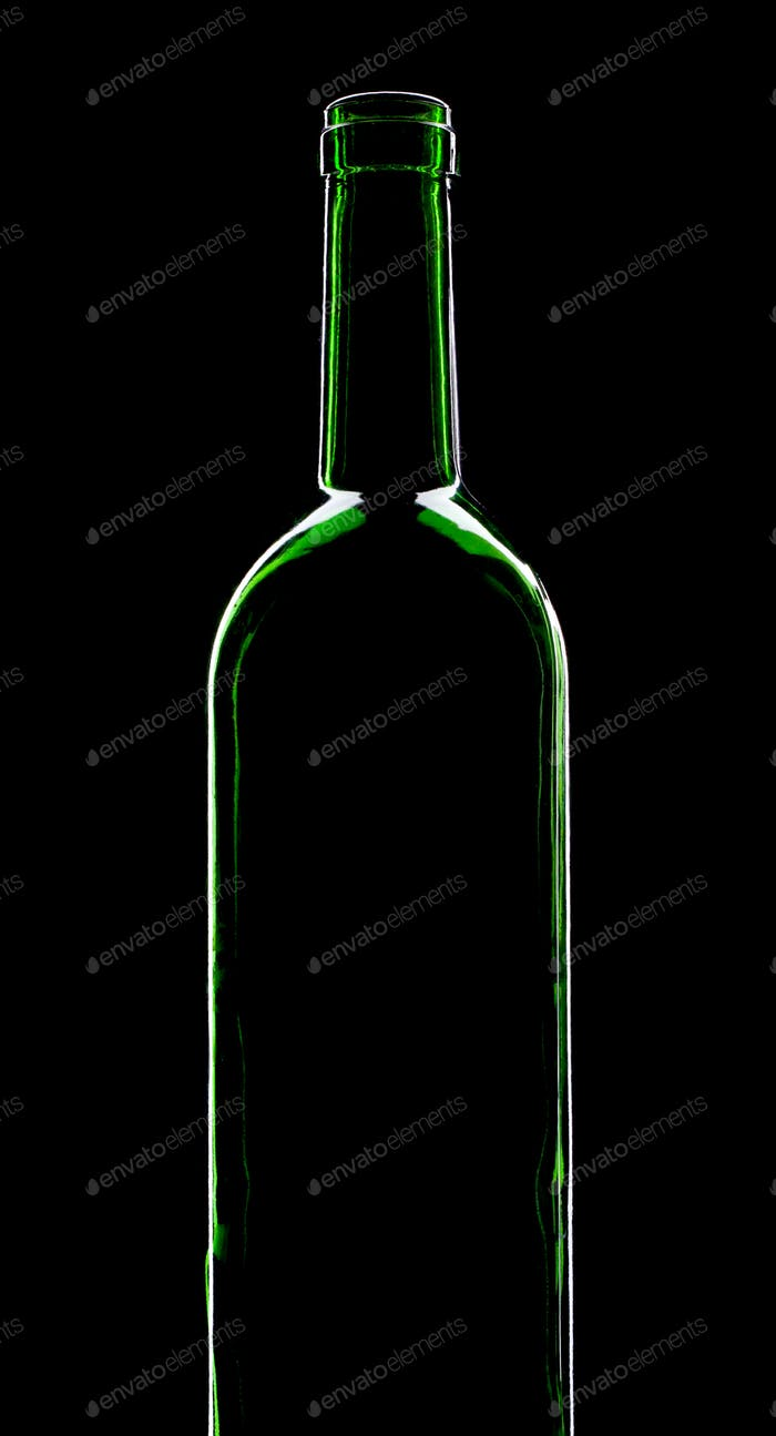 Silhouette of wine bottle