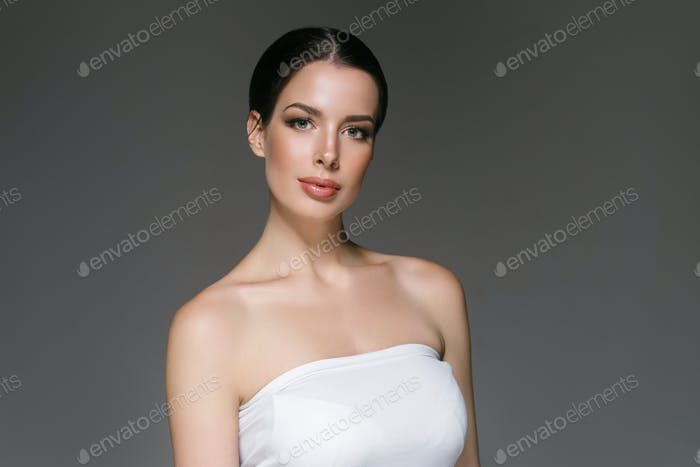 Beautyful skin care woman, beauty concept healthy face makeup, female model portrait.