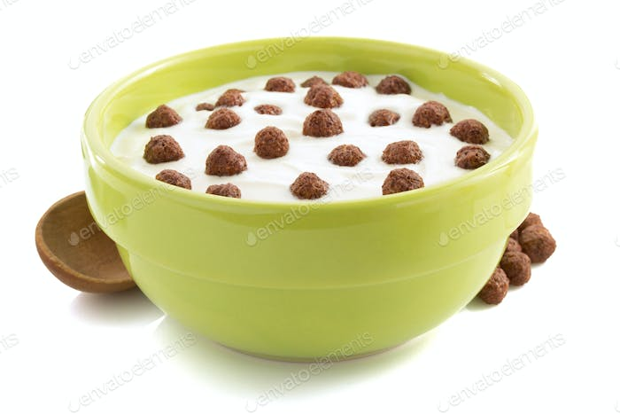cereal chocolate balls in bowl