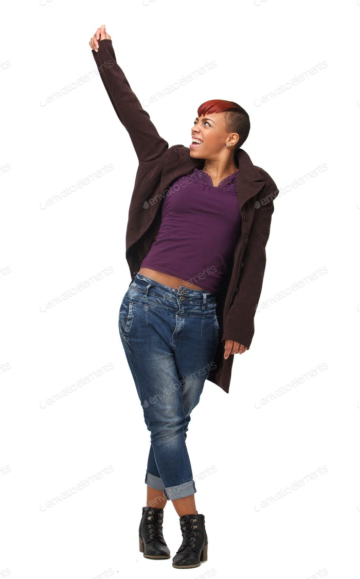 African American Woman with Fist up